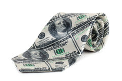 Tie with a hundred dollar bill image Royalty Free Stock Image