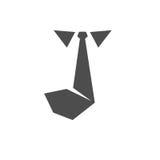 Tie icon vector solid logo Stock Photo