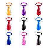 Tie icons vector set. Tie icons detailed photo realistic vector set Stock Photos