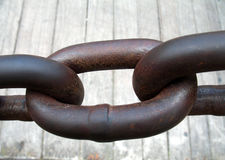 Tie the knot. Chain of hard steel, can be a symbol for  indestructibility and inseparability Royalty Free Stock Photo