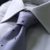 Tie knot. Close-up tie knot in a shirt Stock Photography
