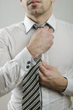 Tie knot Stock Image