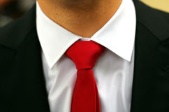 Tie knot close-up Stock Photo