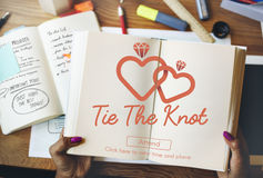 Tie The Knot Wedding Day Love Concept Royalty Free Stock Image
