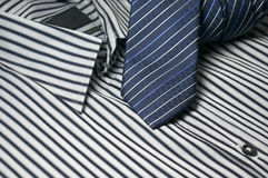 Tie on men shirt Stock Photography