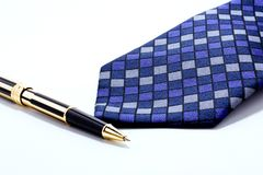 Tie and pen Stock Photo