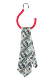 Tie with a picture of one hundred dollar bills Royalty Free Stock Photos
