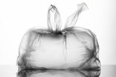 Tie a plastic bag Stock Image