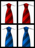 Tie red blue background Stock Images
