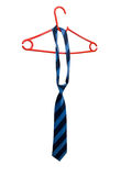 Tie on red hanger Royalty Free Stock Photo