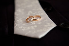 Tie and rings stock image