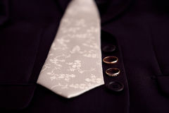 Tie and rings Stock Photos