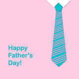 Tie and the sentence happy fathers day Stock Images