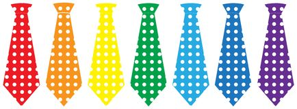 Tie set, vector illustration Stock Photo