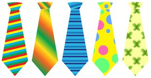 Tie set, vector illustration Royalty Free Stock Photos