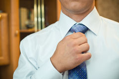 Tie setting. Stock Image