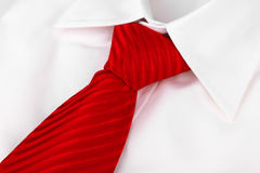 Tie on shirt Stock Photo