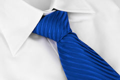 Tie on shirt Stock Image