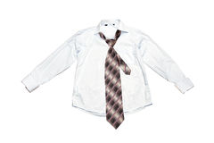 Tie with a shirt Stock Image