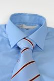 Tie & Shirt. On white stock image