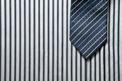 Tie on shirt background Stock Images