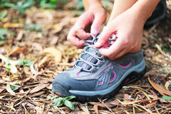 Tie shoelace Stock Photo