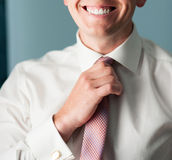 Tie straight, smile Royalty Free Stock Images