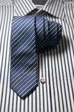 Tie on striped shirt Stock Photography