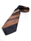 Tie with stripes. From a businessman on a white background Royalty Free Stock Photography