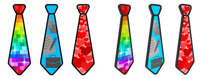 Tie style life Stock Images
