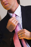Tie and suit Stock Image