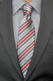 Tie and suit detail Royalty Free Stock Images