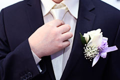 Tie suit without a face Royalty Free Stock Image