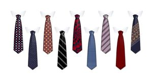 Tie suit icon set, realistic style royalty free illustration