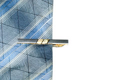 Tie and tie clip Royalty Free Stock Photo