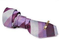 Tie with tie pin Stock Photos