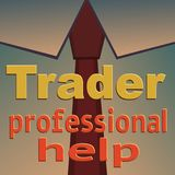 Tie the trader with professional assistance Royalty Free Stock Photography