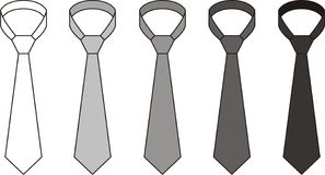 Tie. Vector illustration. Set of ties. Different colors Royalty Free Stock Photography