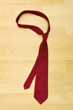 Tie on wood background Royalty Free Stock Photography