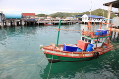 Tieboat. Sea floating bluesea Royalty Free Stock Photography