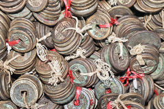 Tied ancient Chinese coins Stock Photography