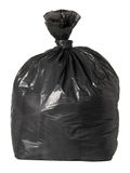 Tied black rubbish bag Royalty Free Stock Photography