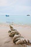 Tied boat Stock Photo