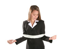 Tied Business Woman Stock Image
