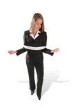 Tied Business Woman Royalty Free Stock Photos