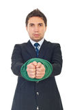 Tied businessman Stock Photo