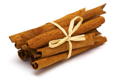 Tied cinnamon sticks Stock Image
