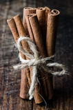 Tied cinnamon sticks Stock Photography