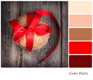 Tied cookie gift palette Royalty Free Stock Images