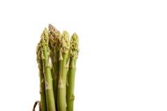 Tied fresh raw asparagus. On white background Stock Photo